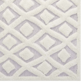 Whimsical Morsel Abstract Diamond Lattice 5x8 Shag Area Rug