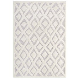 Whimsical Morsel Abstract Diamond Lattice 8x10 Shag Area Rug