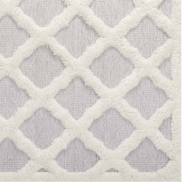 Whimsical Regale Abstract Moroccan Trellis 8x10 Shag Area Rug
