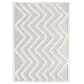 Whimsical Pathway Abstract Chevron 5x8 Shag Area Rug