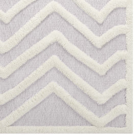 Whimsical Pathway Abstract Chevron 8x10 Shag Area Rug