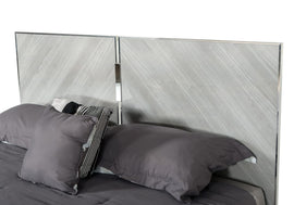 Nova Domus King Alexa Italian Modern Grey Bed