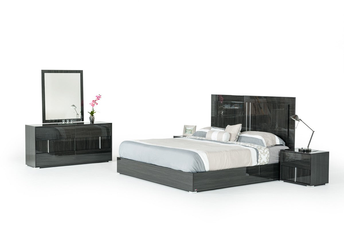 Modrest Ari King Italian Modern Grey Bed