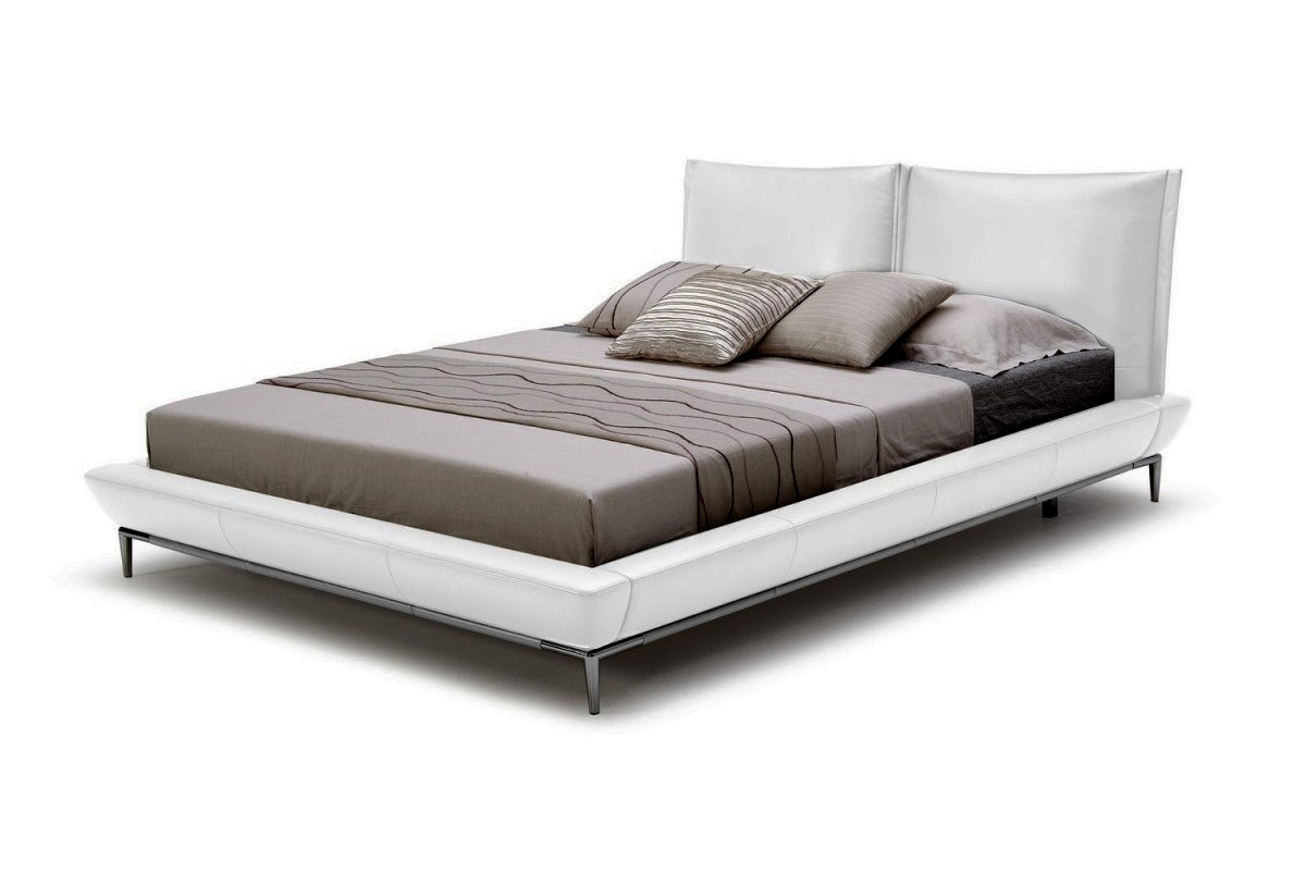 Modrest Loft King Modern White Eco-Leather Bed