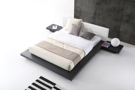 Modrest Opal Queen Modern Wenge & White Platform Bed