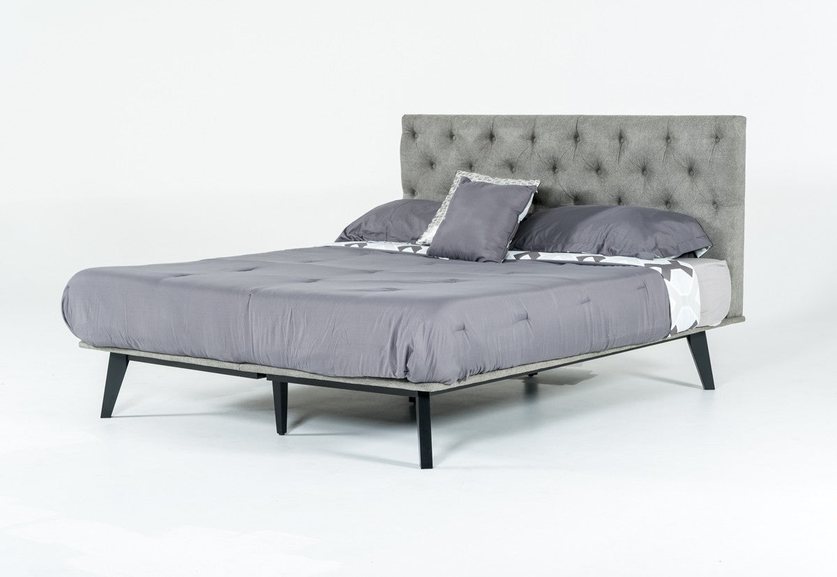 Modrest Gibson King Modern Grey Fabric Super Bed