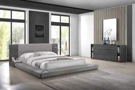 Nova Domus Queen Jagger Modern Grey Bed