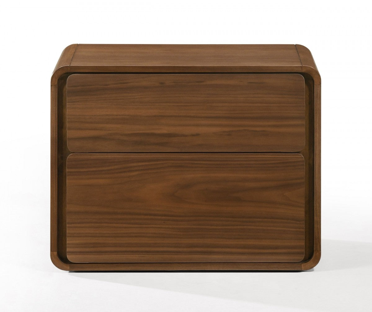 Modrest Dustin - Modern Walnut Nightstand
