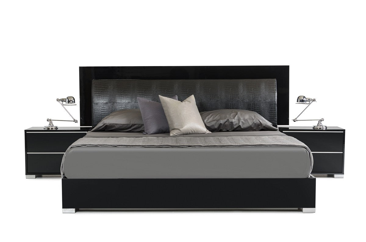 Modrest Grace Italian King Modern Black Bed