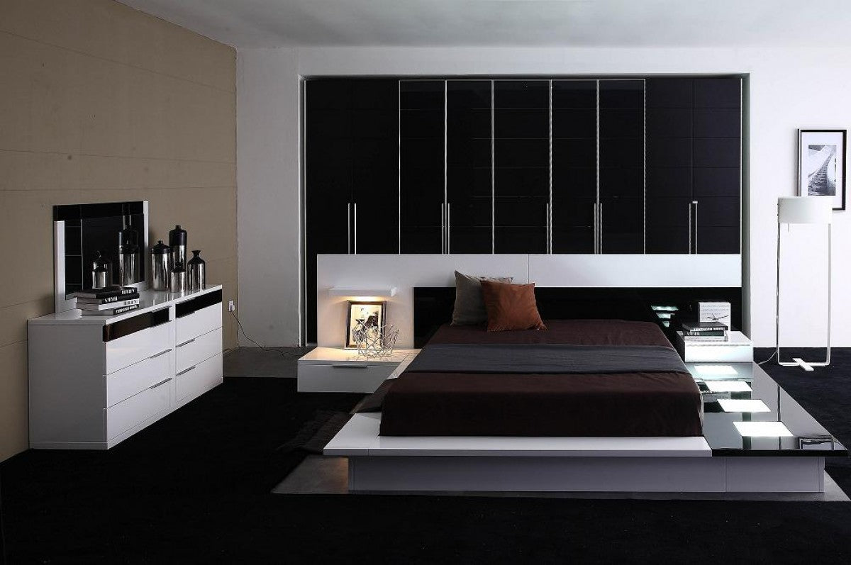 Modrest Impera Queen Contemporary Lacquer Platform Bed