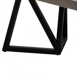 Modrest Richmond Modern Concrete & Black Metal Coffee Table