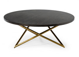 Modrest Novia - Glam Black and Gold Marble Coffee Table