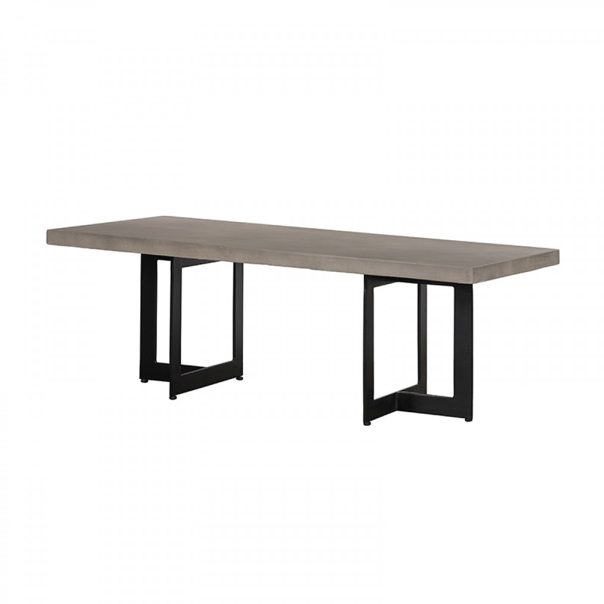 Modrest Sharon Modern Concrete & Black Metal Coffee Table