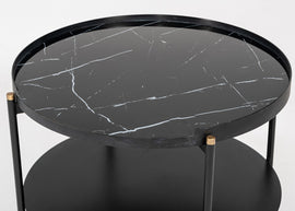 Modrest Randal Modern Round Black Metal Coffee Table