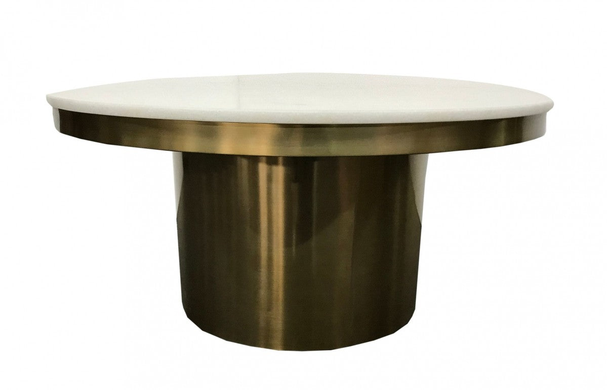 Modrest Rocky - Glam White & Gold Coffee Table