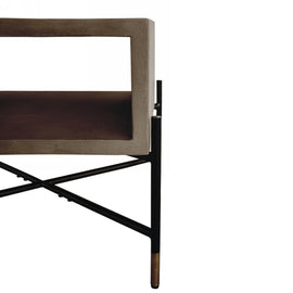 Modrest Walker Modern Concrete & Metal Coffee Table