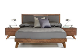 Nova Domus Soria King Modern Grey & Walnut Bed