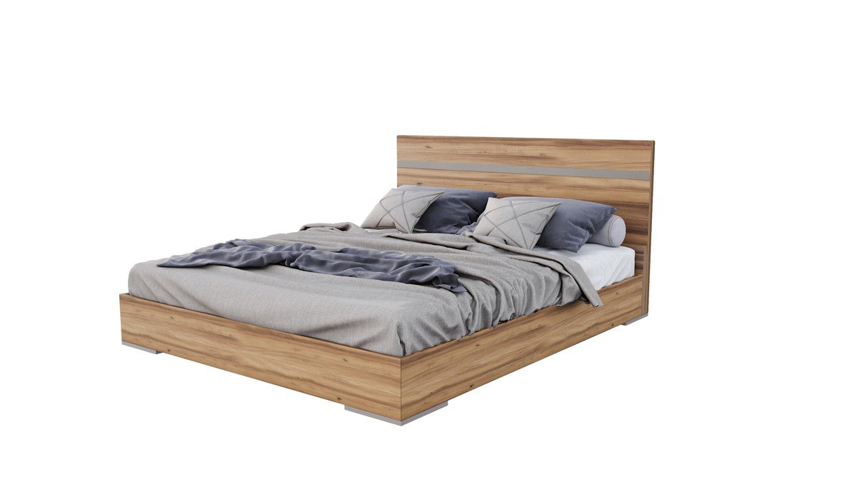 Nova Domus Queen Lorenzo Italian Modern Light Oak Bed