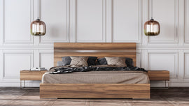Nova Domus King Lorenzo Italian Modern Light Oak Bed