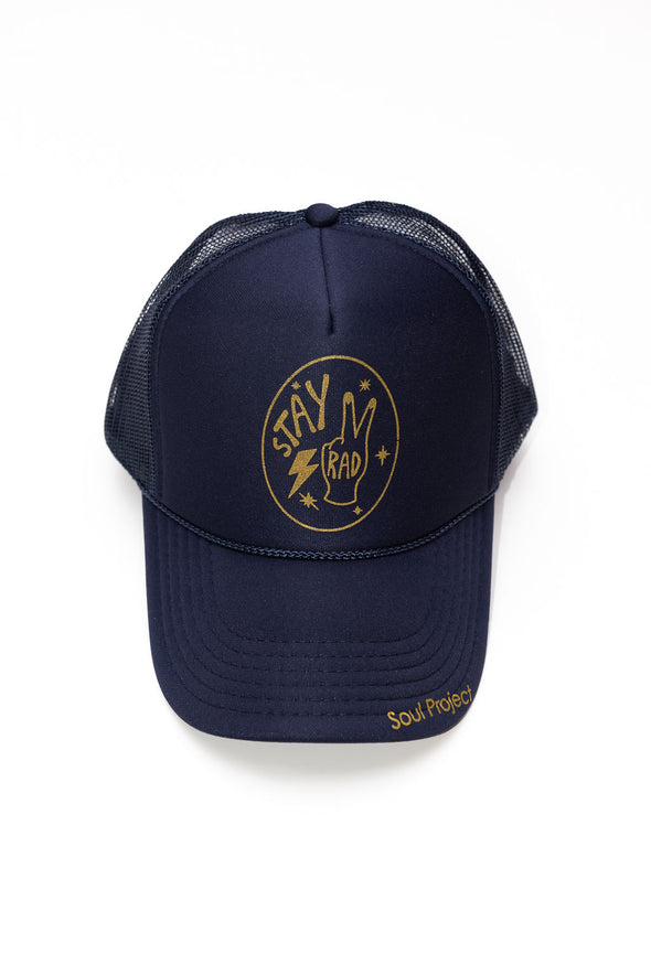 Stay Rad Hat Navy with Gold