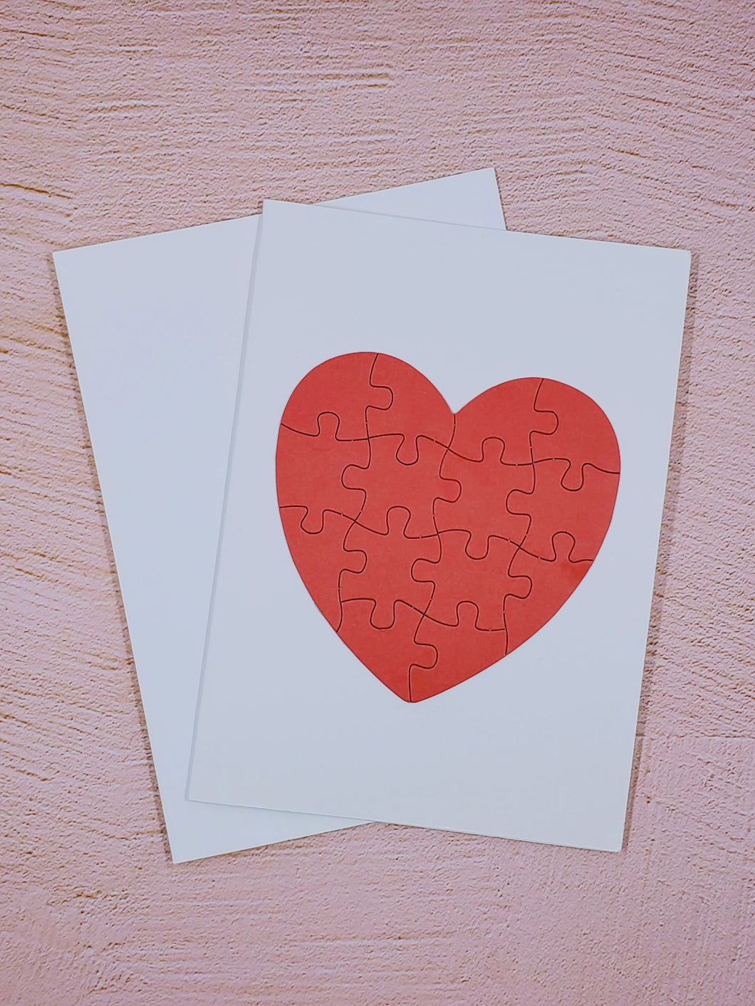 Heart Puzzle Greeting Card