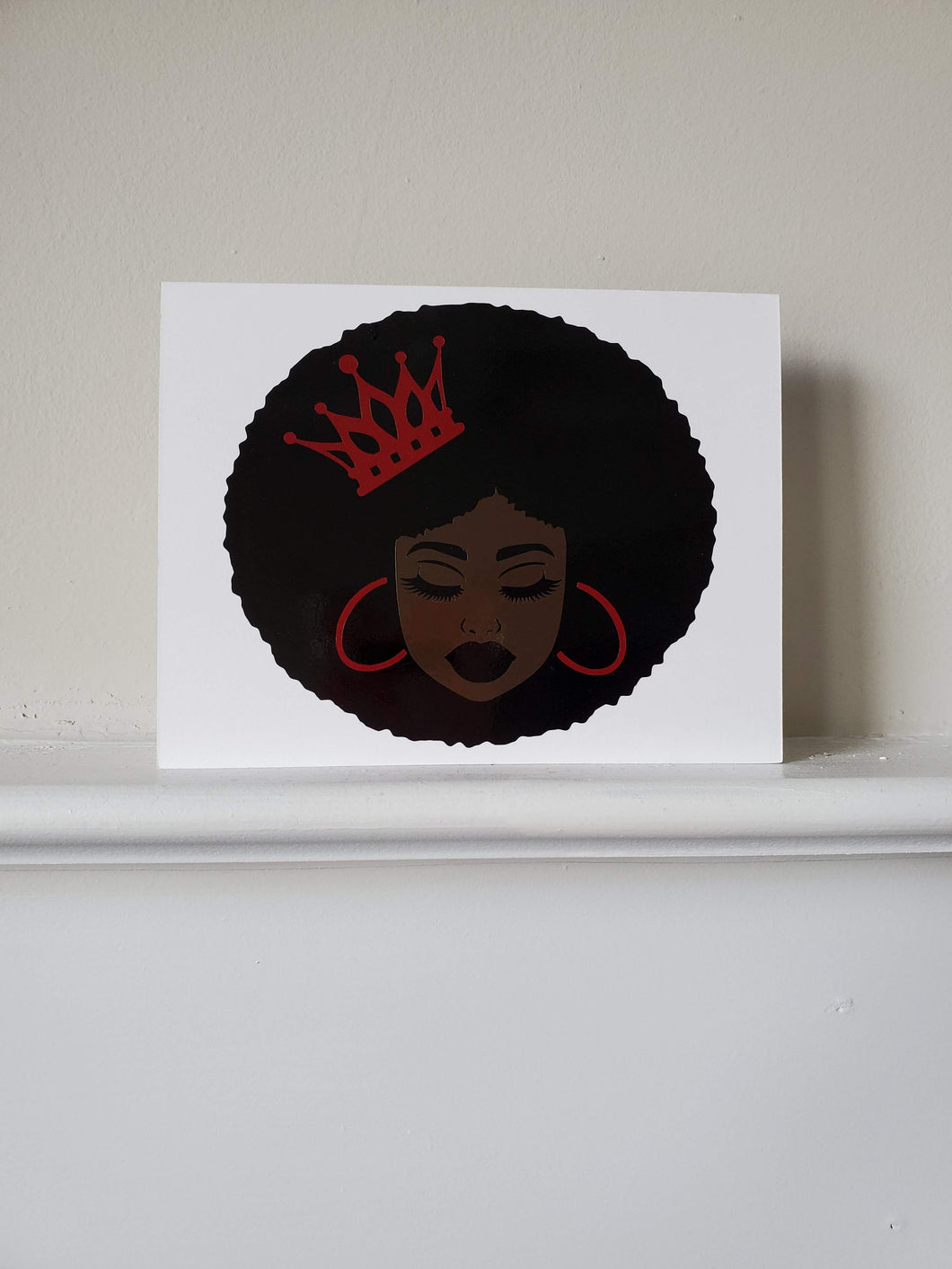 Black Queen - Full Face Greeting Card