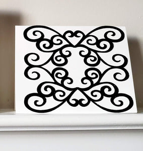 Shimmer and Swirls Greeting Card