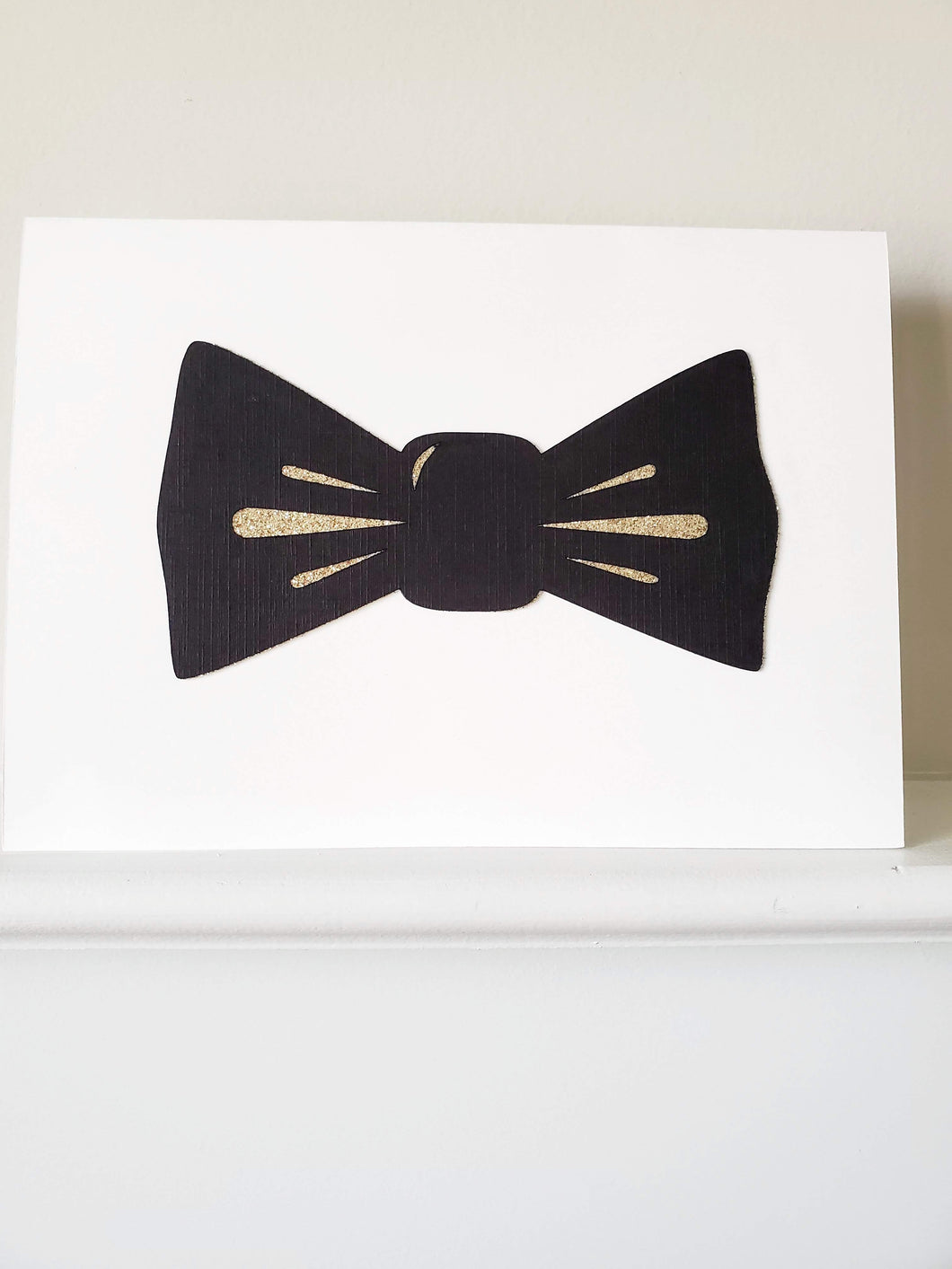 Shimmer Bow Tie Greeting Card