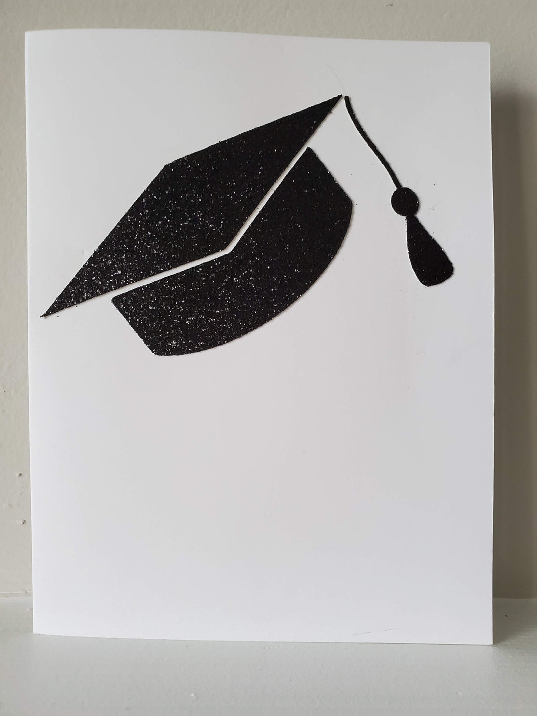 Glitter Graduation Cap Greeting Card