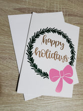 Load image into Gallery viewer, Pink & Green Holiday Greeting Card Set