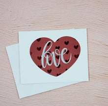 Load image into Gallery viewer, Hearts and Love Greeting Card