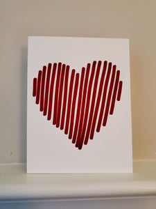 Heart Stripes Greeting Card
