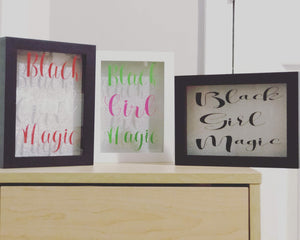 Black Girl Magic Shadow Box