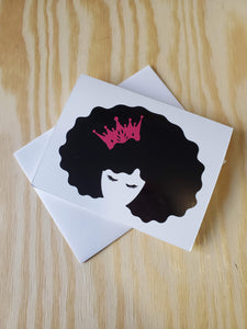 Black Queen - Lashes Greeting Card