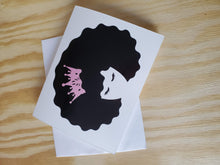 Load image into Gallery viewer, Black Queen - Lashes Greeting Card