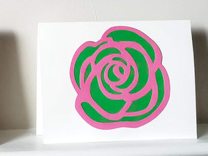 Layered Rose Greeting Card