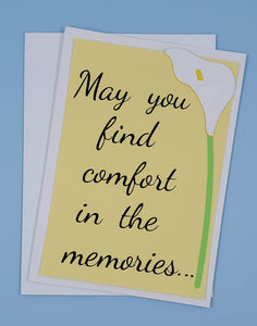 May You Find Comfort Greeting Card
