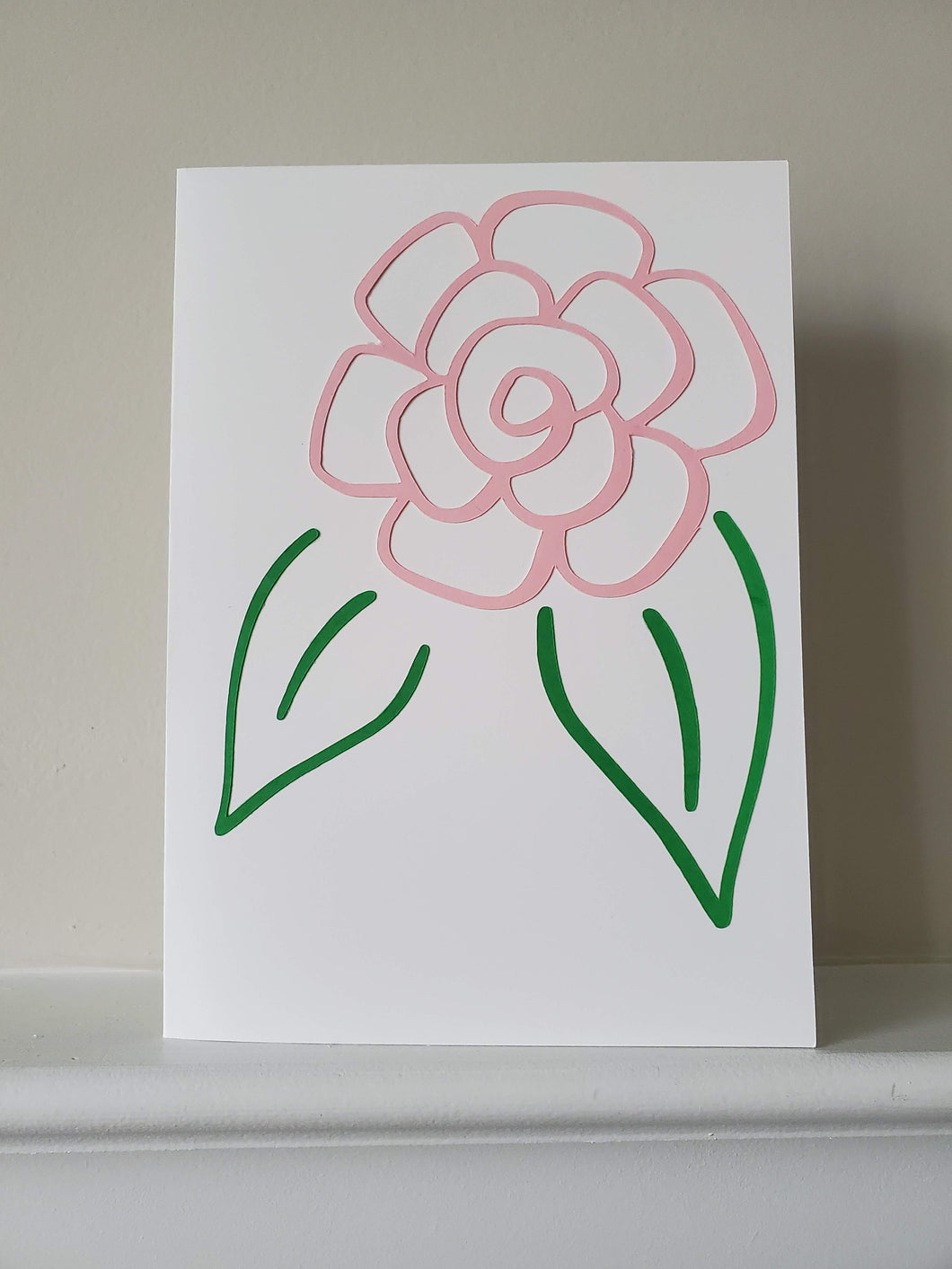 Rose Silhouette Greeting Card