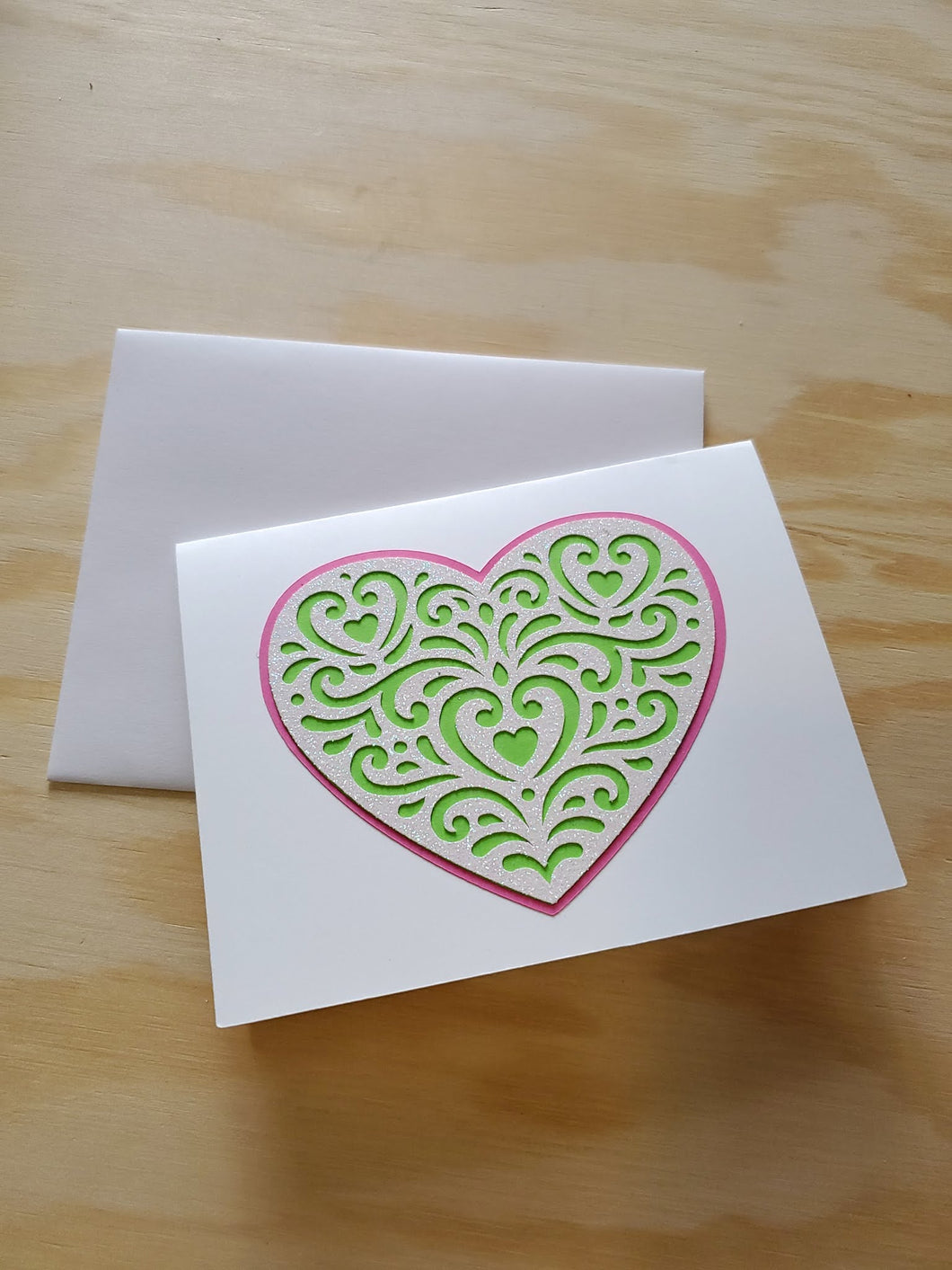 Sparkly Heart Greeting Card