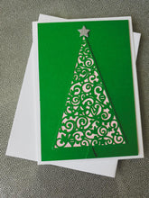 Load image into Gallery viewer, Sparkly Tree Greeting Card