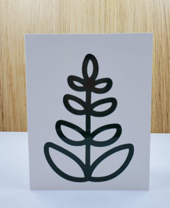 Tall Leaf Greeting Card