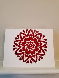 Tear Drop Mandala Greeting Card