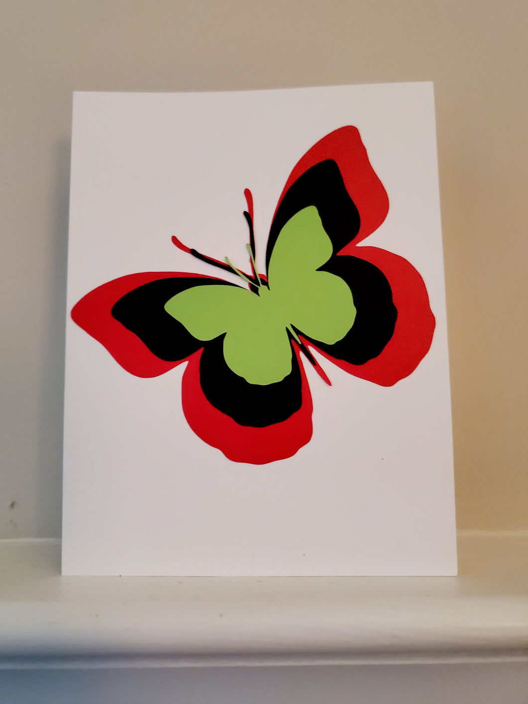 Multi-color Butterfly Greeting Card