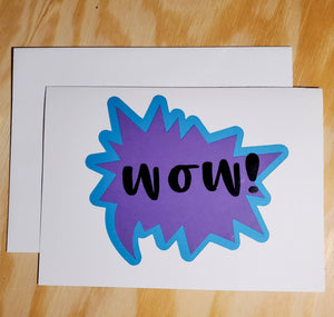Wow Greeting Card