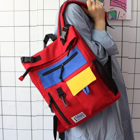 Retro Colorblock Backpack