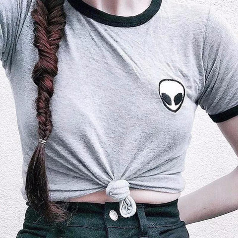 Alien Embroidered Tee