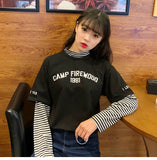 Camp Firewood 1981 Two Faux Layered Long Sleeve