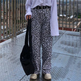 Loose Fit Leopard Pants