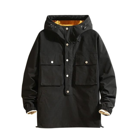 Pullover Double Pocket Jacket