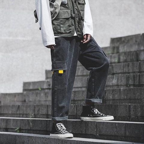 Oversized Cargo Denim Pants